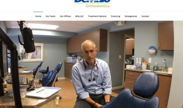 DeMaio Orthodontics website