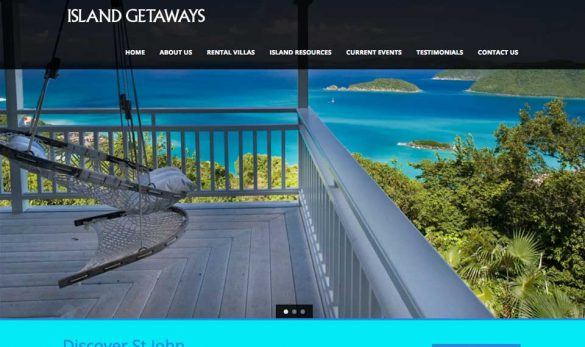Island Getaways web site