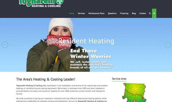 Tognarelli Heating web site